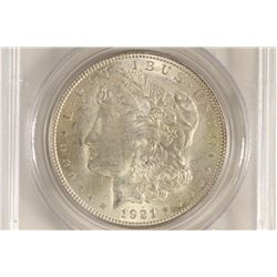 1921 MORGAN SILVER DOLLAR VAM-41 PITTED REV. TOP