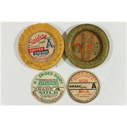 4 VINTAGE MIKL BOTTLE CAPS