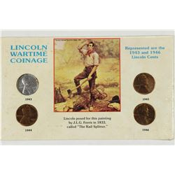 LINCOLN WAR TIME COINAGE SET AS SHOWN