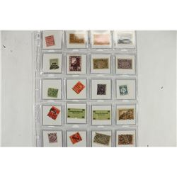20-ASSORTED WWII GERMAN POSTAGE STAMPS