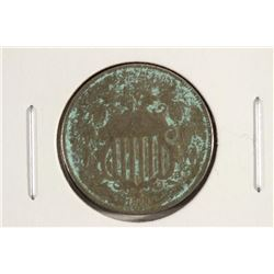 1868 SHIELD NICKEL WITH VIDIGRIS