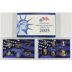 2005 US PROOF SET (WITH BOX) QUARTER CASE HAS