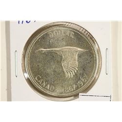 1967 CANADA FLYING GOOSE SILVER DOLLAR UNC