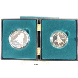 "1995-S CIVIL WAR 2 COIN ""UNION SET"" CONTAINS:"