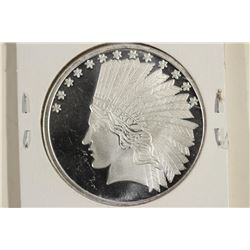 1 TROY OZ .999 FINE SILVER PROOF ROUND INDIAN /