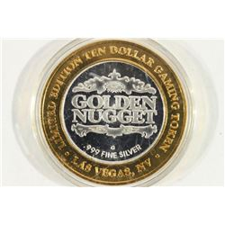 CASINO $10 SILVER TOKEN (UNC) GOLDEN NUGGET
