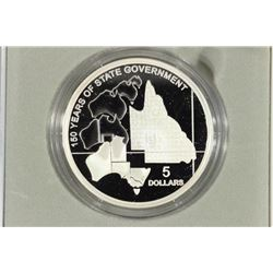 2009 AUSTRALIA SILVER $5 PROOF QUEENSLAND