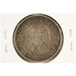 1934 GERMAN SILVER 5 MARKS