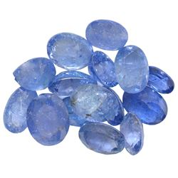 16.63 ctw Oval Mixed Tanzanite Parcel