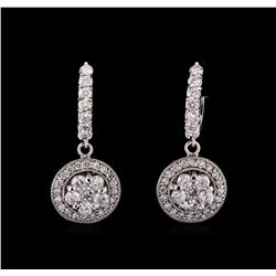 14KT White Gold 3.26 ctw Diamond Earrings