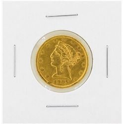 1905S $5 Libery Head Gold Coin