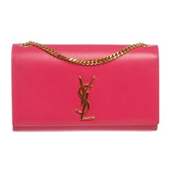 Yves Saint Laurent Pink Monogram Chain Shoulder Bag