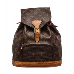 Louis Vuitton Monogram Canvas Leather Montsouris MM Backpack Bag