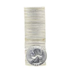 Tube of 40 1954D Washington Quarter Dollars