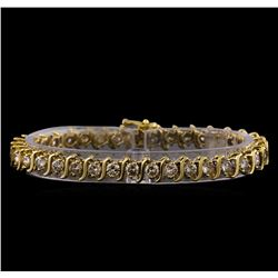 7.13 ctw Diamond Bracelet - 14KT Yellow Gold