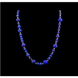 Lapis Necklace - 14KT Yellow Gold