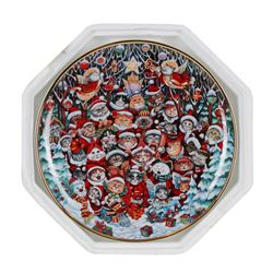 """Bill Bell """"Santa Claws"""" Collector Plate from the Franklin Mint - 8 1/8"""" Diameter"""