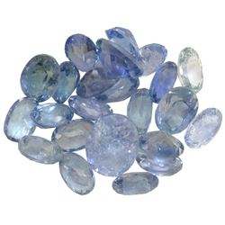 13.94 ctw Oval Mixed Tanzanite Parcel