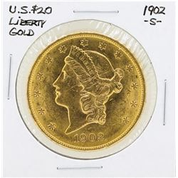 1902-S $20 Liberty Double Eagle Gold Coin