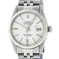 Rolex Mens Stainless Steel Silver Index Datejust Wristwatch