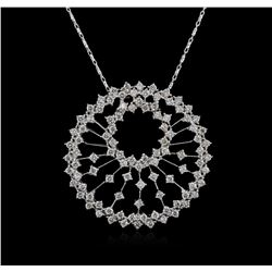 14KT White Gold 2.60 ctw Diamond Pendant With Chain