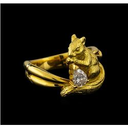 0.36 ctw Diamond Ring - 18KT Yellow Gold