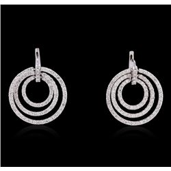 14KT White Gold 5.43 ctw Diamond Earrings