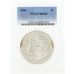 1896 MS64 NGC Morgan Silver Dollar