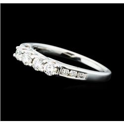 0.50 ctw Diamond Four Stone Ring - 14KT White Gold
