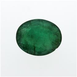 7.13 ct. One Oval Cut Natural Emerald