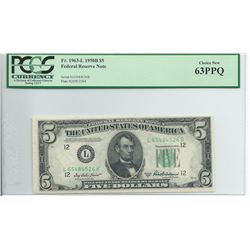 1950B $5 Federal Reserve Note
