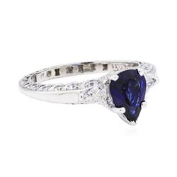 Tacori 1.46 ctw Sapphire And Diamond Ring - Platinum