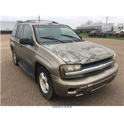 2002 - CHEVROLET TRAIL BLAZER//TEXAS REGISTRATION ONLY