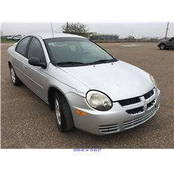 2003 - DODGE NEON//TEXAS REGISTRATION ONLY//REBUILT SALVAGE