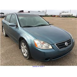 2002 - NISSAN ALTIMA//TEXAS REGISTRATION ONLY