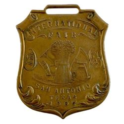 1907 International Fair, San Antonio, TX Badge