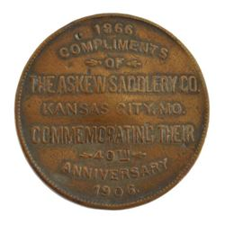 1906 Askew Saddlery Co 40th Anniversary Token