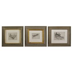 Set of Three Edward Borein Etchings