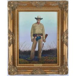 "Joaquin Jackson ""One Ranger"" Oil by Jack White"