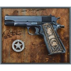 Signed Photo of Joaquin Jacksons Service Weapons