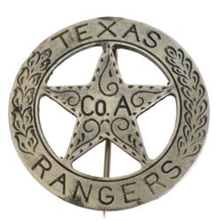 Texas Ranger Co. A Badge