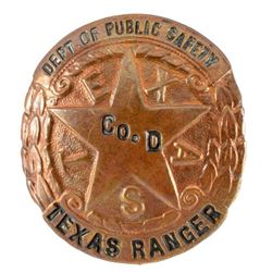 Texas Ranger Co D Badge