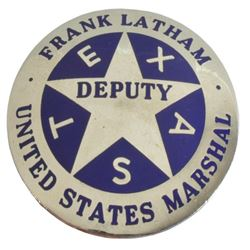Frank Latham U.S. Marshal Badge