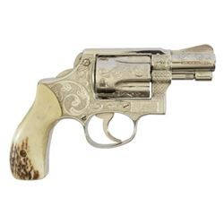 Fully Engraved S&W Snub Nose .38 Revolver