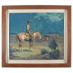 "Gray Bartlett Signed ""Night Watch"" Oil on Canvas"