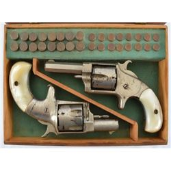 Cased Set of Hopkins & Allen No.3 & No.4 Pistols