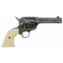 Engraved Colt Model 1873 SAA .45 Revolver