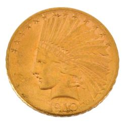 1910 $10 Indian Head Gold Coin