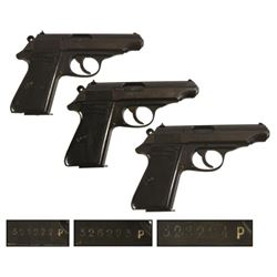 3 Sequentially Numbered Walther Model PP Pistols