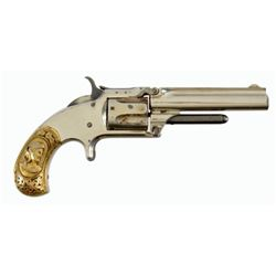 S&W Model 1-1/2 With Scarce Cast Gold Grips